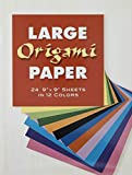 Large Origami Paper: 24 9' X 9' Sheets in 12 Colors