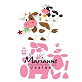 Marianne Design Collectables Fustelle Mucca, Metal, Pink, 20.5x14.5x3 cm