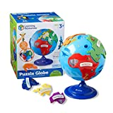 Learning Resources- Mappamondo Puzzle, Colore, LER7735