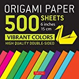 Origami Paper 500 Sheets Vibrant Colors 6 in: Tuttle Origami Paper: High-quality Origami Sheets Printed With 12 Different Colors: Instructions for 8 ... (Instructions for 6 Projects Included)