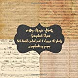 vintage Music Sheets Scrapbook Paper 8x8 double sided pad 4 design 40 pad scrapbooking pages: Antique Classic Retro Double Sided Illustration - Scrap ... & cardmaking embellishments & crafting art