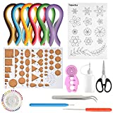 TUPARKA 15 PCS Paper Quilling Kit con 29 colori 600 strisce Quilling Paper DIY Design Drawing Drawing Tool Handcraft Tool