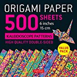 Origami Paper - 500 Sheets Kaleidoscope Patterns- 6' (15 Cm): Tuttle Origami Paper: High-quality Origami Sheets Printed With 12 Different Designs: ... (Instructions for 6 Projects Included)