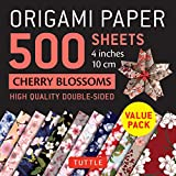 Origami Paper 500 Sheets Cherry Blossoms: High-quality Double-Sided, 4 inches 10 cm: Tuttle Origami Paper: High-Quality Double-Sided Origami Sheets Printed with 12 Different Patterns