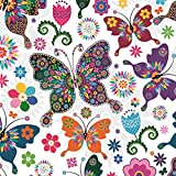 20 tovaglioli per decoupage EventStained Glass Butterfly Vintage SLOG031701 Art Craft